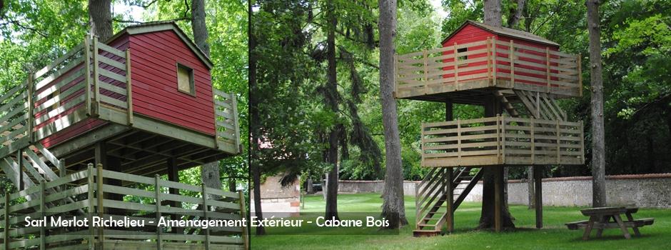 Cabane dans les Arbres - Sarl Merlot - Richelieu - France