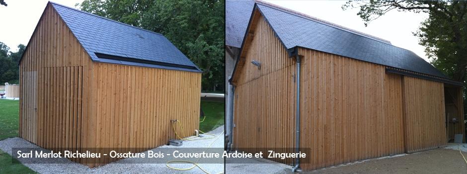 Charpente - Couverture - ZInguerie -  Sarl Merlot Richelieu