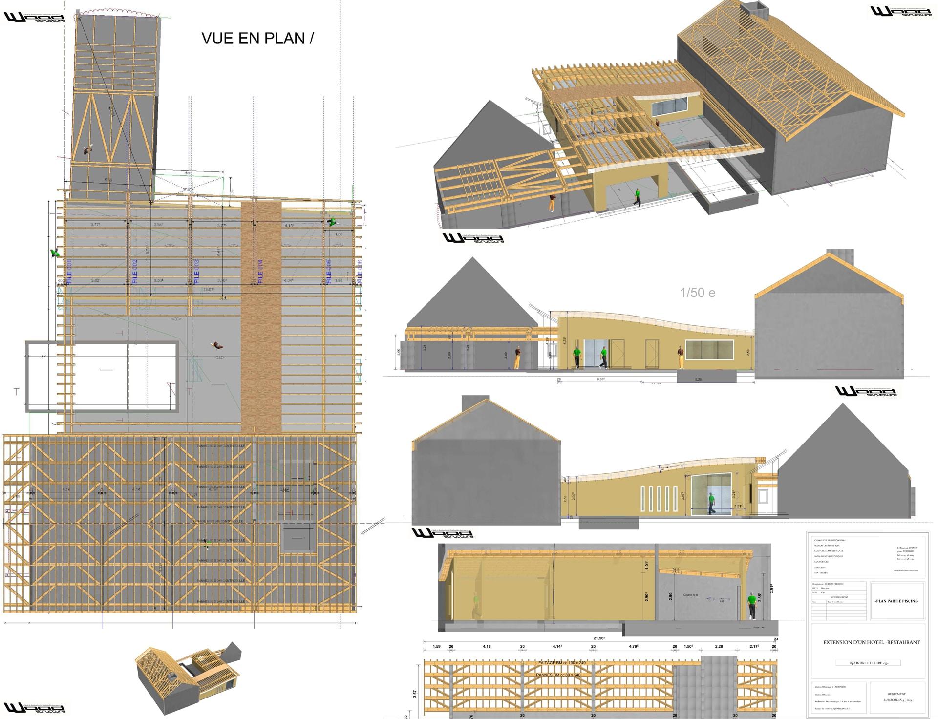 Wood Structure Bureau Etude Systeme Constructif Bois et Habitat # Structure Charpente Bois