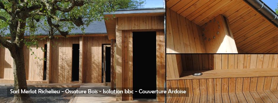 Maison Ossature Bois - Isolation et Bardage - Sarl Merlot Richelieu