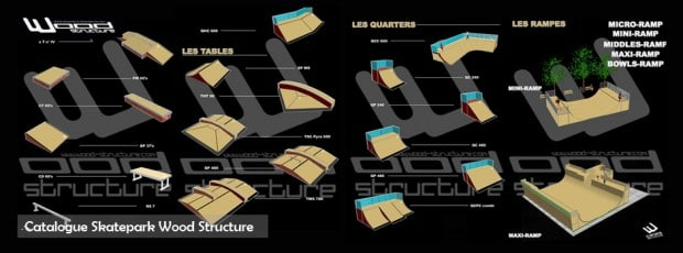 catalogue module et rampe de skate - Wood Structure Skatepark