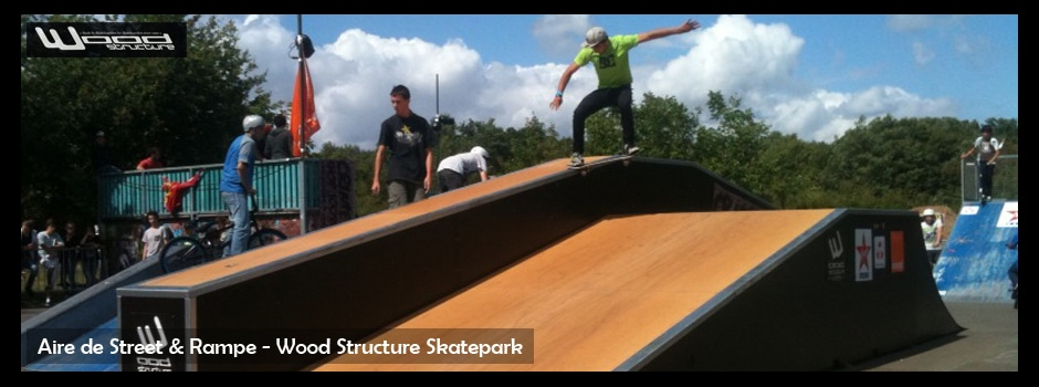 Aire de street et rampe skate park - Wood Structure