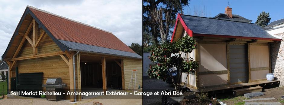 Amenagement bois exterieur charpente bois sarl merlot for Garage exterieur design