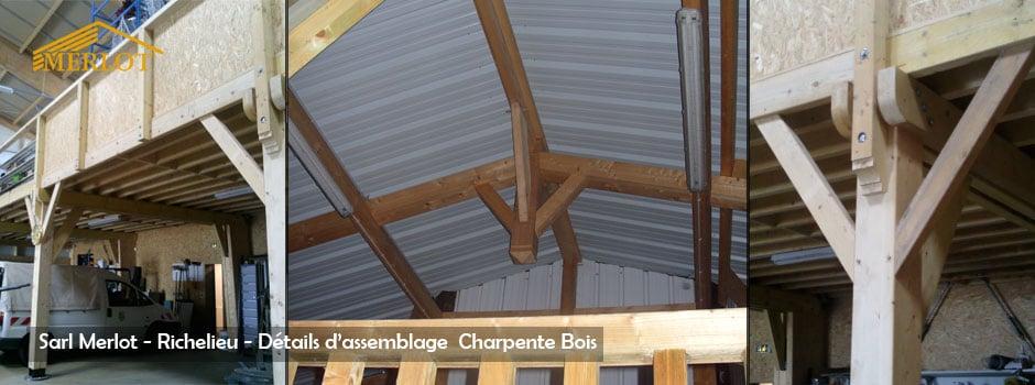 Detail Assemblage Charpente Bois - Sarl Merlot - Richelieu