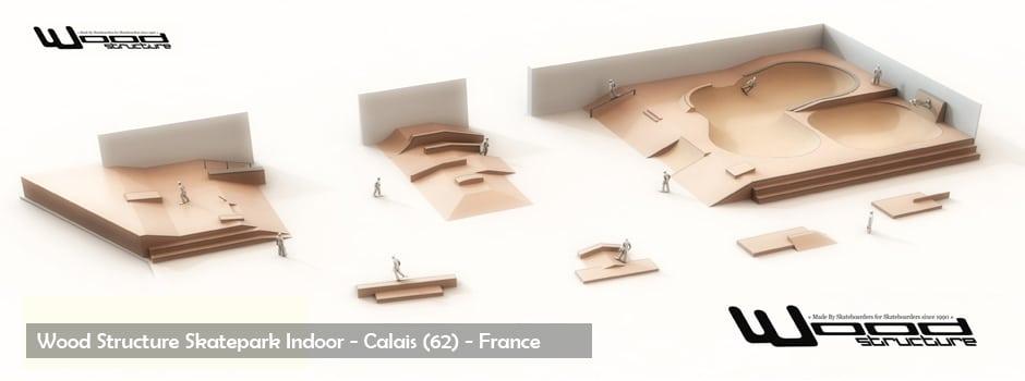 Skatepark de Calais - Wood Structure - Sarl Merlot Richelieu