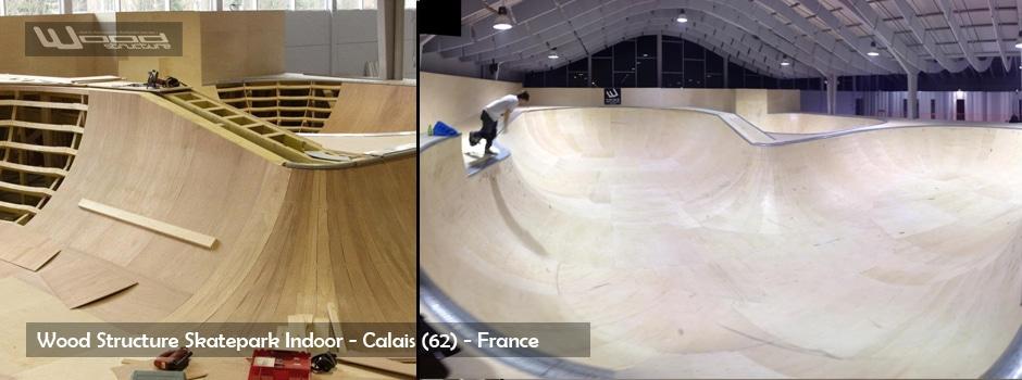 Skatepark de Calais - Wood Structure Skatepark