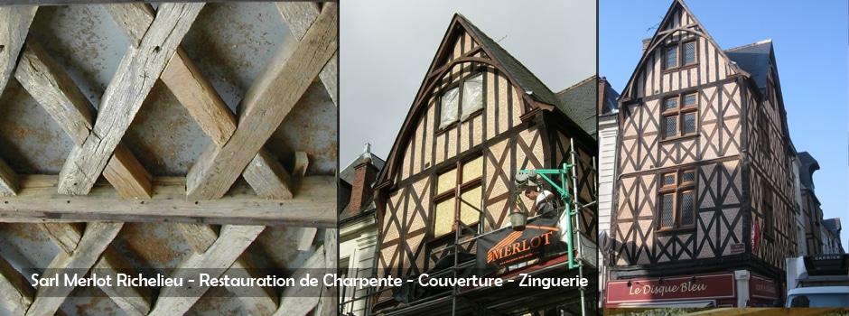 Restauration de Charpente en Colombage - Sarl Merlot Richelieu
