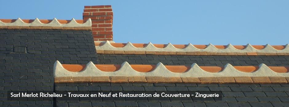 Couverture Ardoise et Tuile - Sarl Merlot - Richelieu - France