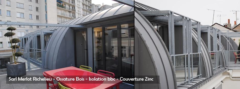 Couverture Zinc - Sarl Merlot - Richelieu