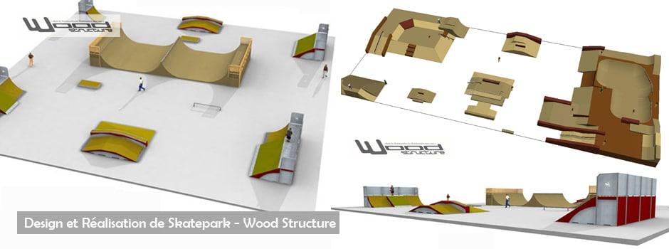 Design et Réalisation de Skate Park - Wood Structure