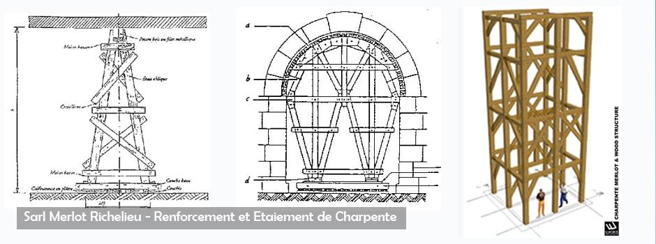 Renforcement et Etaiement de Charpente  - Sarl Merlot Richelieu