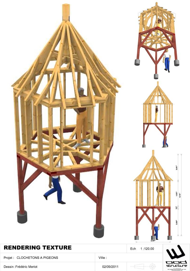 Etude de charpente bois - Wood Structure