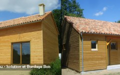 Wooden House - Insulation and Cladding Wood - Sarl Merlot Richelieu - Loire Valley - France