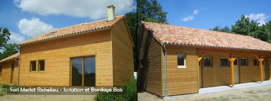 Maison Bois - Isolation et Bardage Bois - Sarl Merlot Richelieu