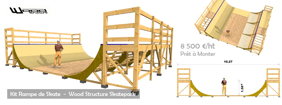 Kit Rampe de Skate Wood Structure