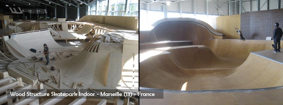 Rampe et Bowl de Skate - Wood Structure - Fabricant de Skatepark depuis 1990
