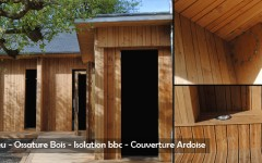 Wooden House - Timber Framing - Insulation and Cladding - Sarl Merlot Richelieu