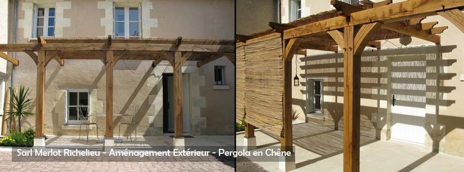 Aménagement Extérieur Bois - Pergola - Sarl Merlot - Richelieu