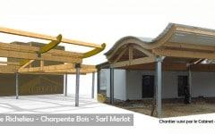 Maison Ossature Bois - Charpente Bois Merlot - Richelieu