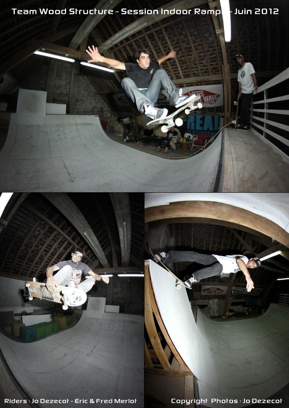 Team Wood Structure Skatepark - Session Indoor Ramp