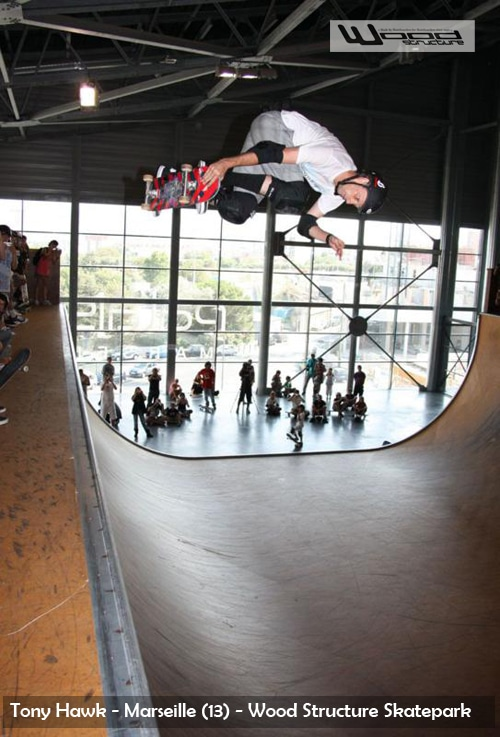 Tony Hawk - Marseille - Wood Structure Skatepark