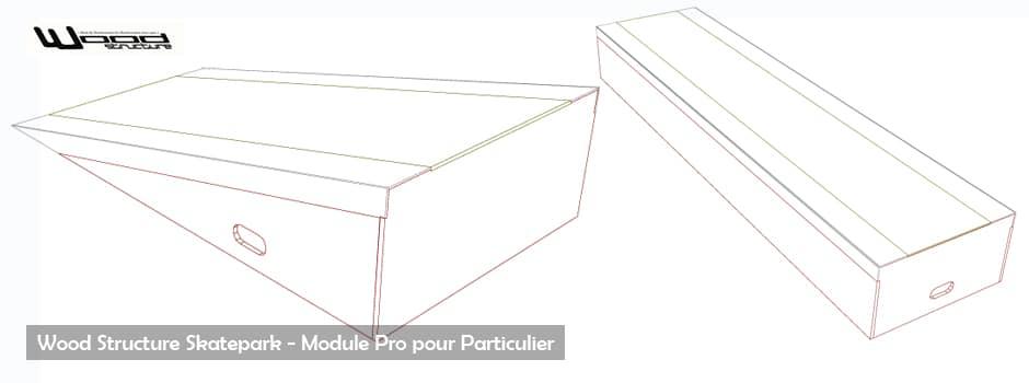 Module Rampe Skate Woody - Wood Structure Skatepark