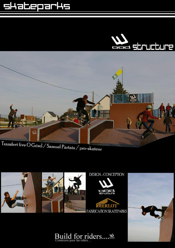 Skate park de l'Ile-Bouchard -37- France - Wood Structure Skatepark