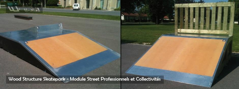 Module Street - Wood Structure Skatepark