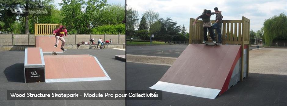 Module Skate - Wood Structure Skatepark