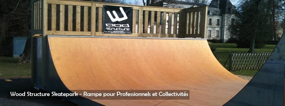 Rampe Skate - Wood Structure Skatepark