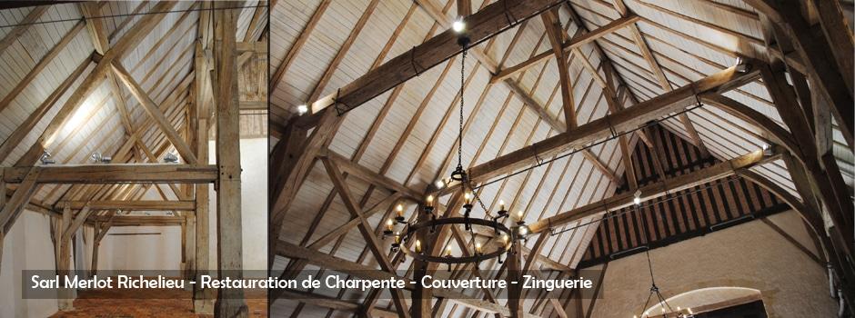 Sarl Merlot Richelieu - Restauration de Charpente