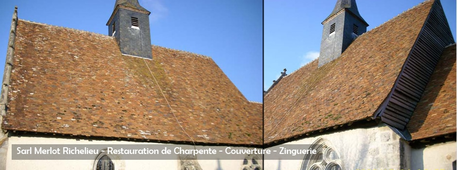 Restauration de Charpente - Couverture - Zinguerie - Sarl Merlot - Richelieu - France