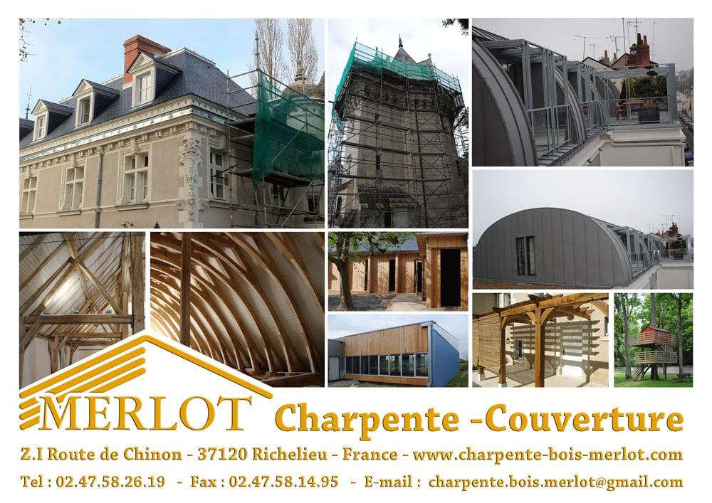 Sarl Merlot - Charpente - Couverture - Zinguerie - 37120 Richelieu - France