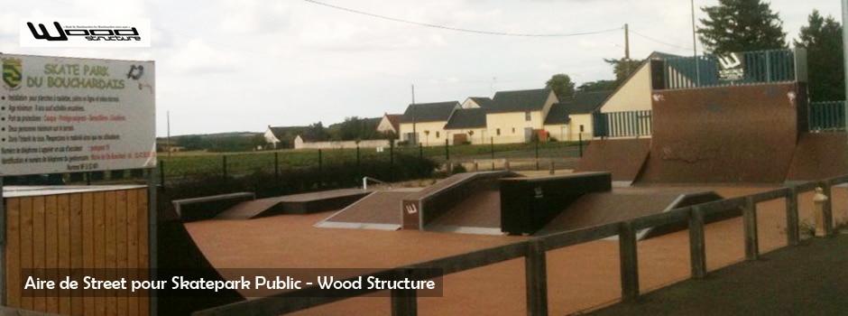 Module pour aire de street - Wood Structure - Fabricant de skatepark depuis 1990