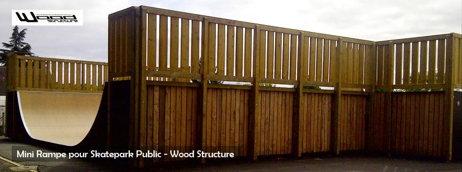 Mini Rampe de Skate - Wood Structure - Fabricant de Skatepark depuis 1990