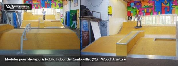 module skate street - skatepark couvert de Rambouillet - Wood Structure