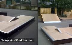 Public Modular Skatepark - Ramp & Street Area - Skatepark Wood Structure