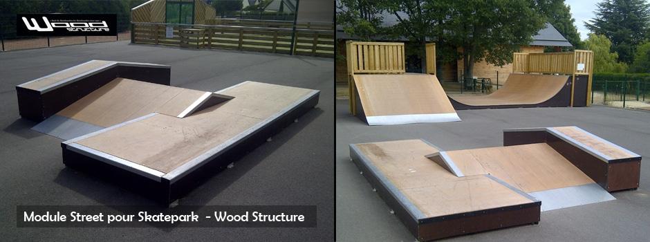 Module de Skate - Aire de Street - Skatepark Wood Structure