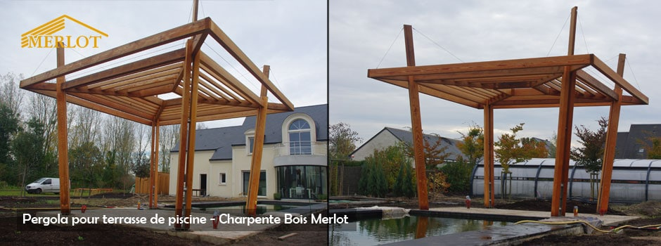 Pergola Design - Amenagement Exterieur Bois - Sarl Merlot - Wood Structure