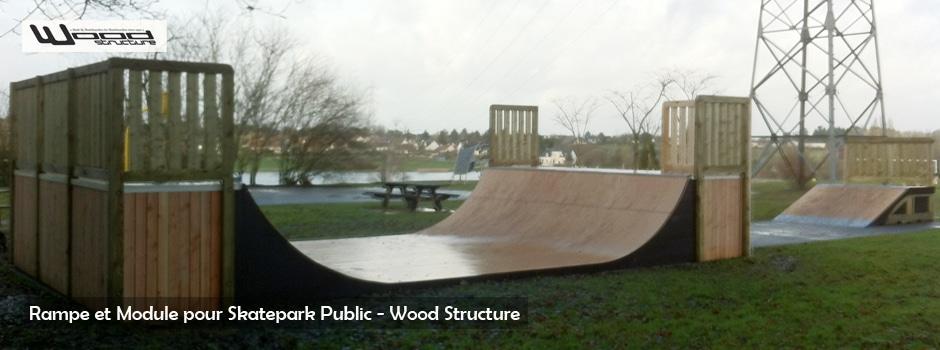 Mini Ramp Skate - Skatepark de Joué-les-Tours (37) - Wood Structure Skatepark