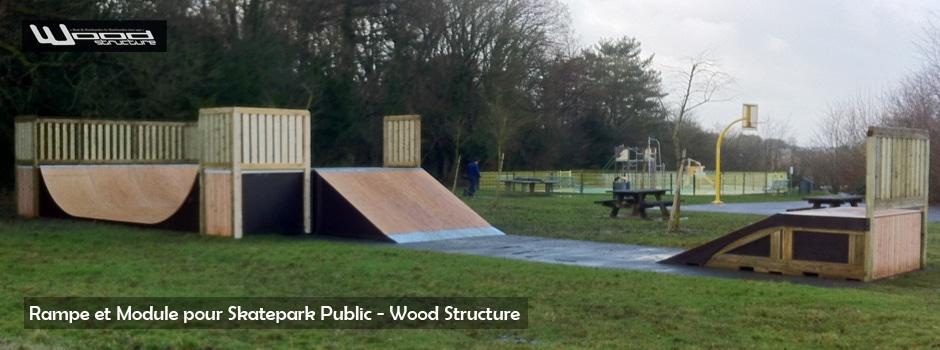 Ramp & Street - Skatepark de Joué-les-Tours (37) - Wood Structure Skatepark