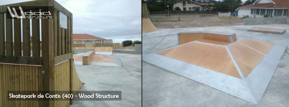 Skatepark de Contis (40) - Wood Structure