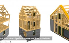 Study Office Wood - Construction system wood and habitat- Wood Structure