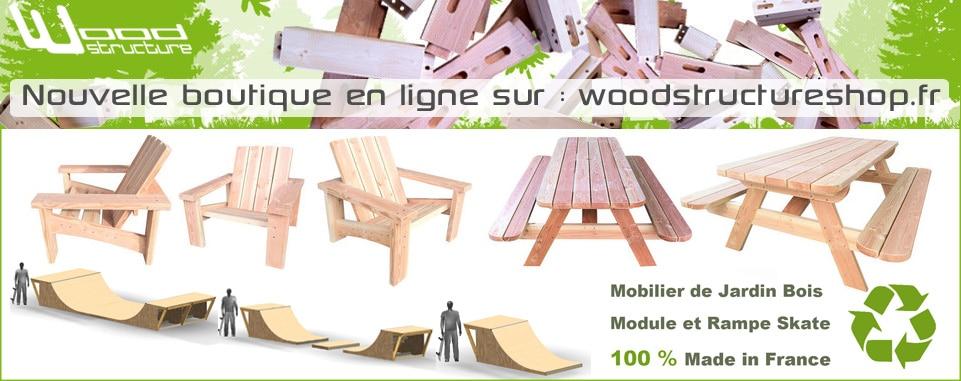 Wood Structure Shop - Mobilier bois - Module et rampe de skate