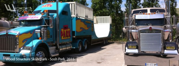 Rampe sur camion pour évenement Sosh Park - Wood Structure Skatepark