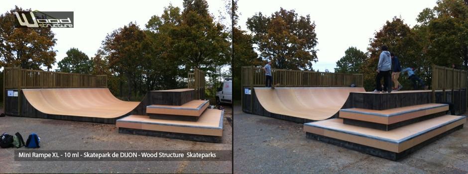Mini Rampe de Dijon (21) réalisée par Wood Structure Fabricant de Skateparks depuis 1990