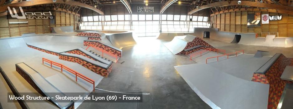 Fabrication du Skatepark de Lyon - Gerland - Wood Structure Skatepark - Constructo - Sarl Merlot - 2015