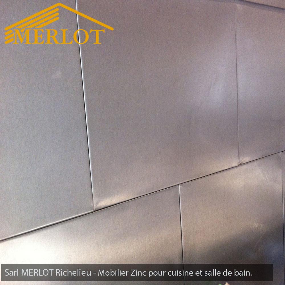 Zinc Dans Salle De Bain ~ mobilier zinc fa ade et cr dence de cuisine en zinc habillage de