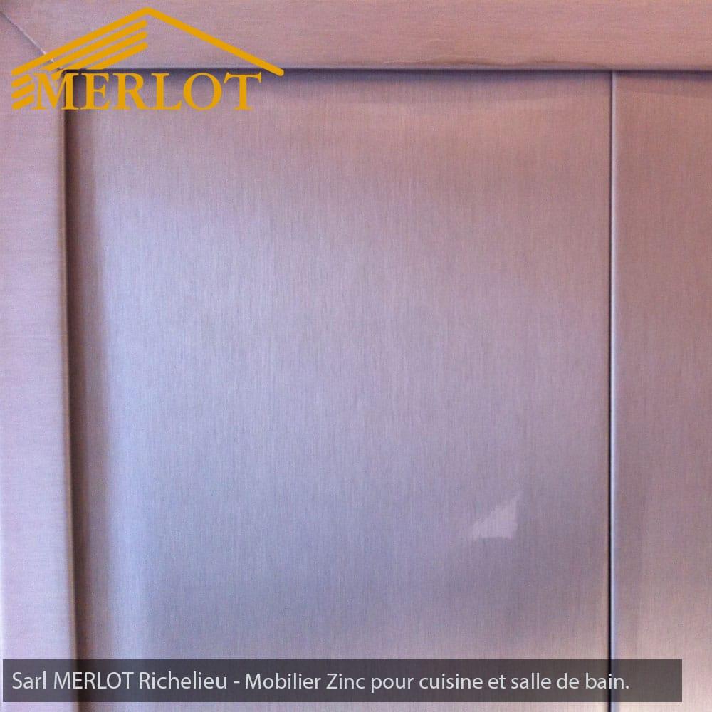 mobilier zinc - façade et crédence de cuisine en zinc - habillage de